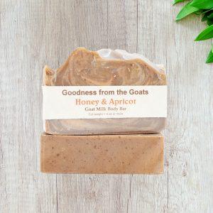 Honey and apricot goat milk soap