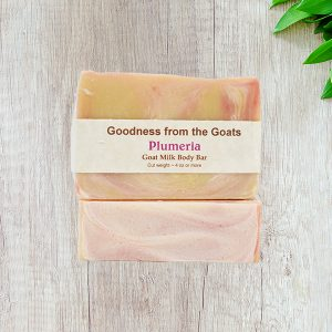 Plumeria goat milk soap