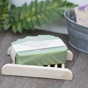 Wood Soap Dish with Goat Milk Soap